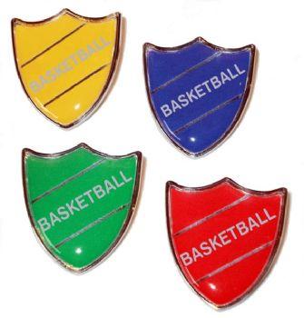 BASKETBALL shield badge